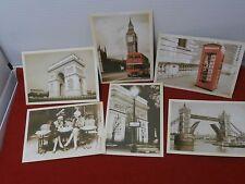 7 Vintage, Antique Postcards  Europe  Paris, & London,
