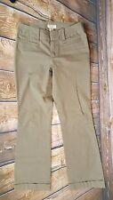 Banana Republic Womens Pants Chino Pin Stripe Brown Cotton Stretch Size 2