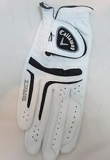 Men's CALLAWAY S Tour Authentic White Cabretta Leather Golf Glove Right Hand