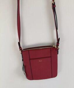 Lauren Ralph Lauren Faux Leather Red Crossbody Bag
