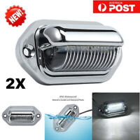2X LED LICENSE NUMBER PLATE LIGHT LAMP CARAVAN TRUCK TRAILER BOAT VAN UTE 10-30V