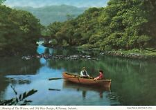LITHOGRAPH POSTCARD: MEETING OF THE WATERS,& OLD WEIR BRIDGE,KILLARNEY, IRELAND