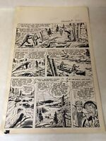 BOB SWIFT #1 pg 20 original art 1951, CANOE, EAGLE LAKE, OUTDOORS, DETAILED