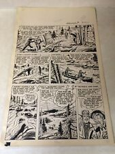 BOB SWIFT #1 pg 20 original art 1951, CANOE, EAGLE LAKE, OUTDOORS, DETAILED