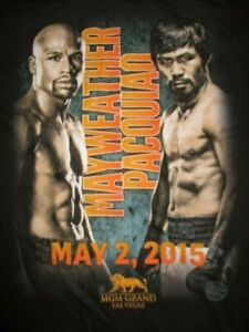 "FLOYD MAYWEATHER v MANNY PACQUIAO ""FIGHT OF THE CENTURY"" May 2 2015 (XL) T-Shirt"