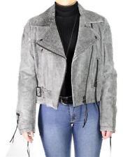 Diesel Lederjacke Damen Jacke Bikerjacke 40 schwarz