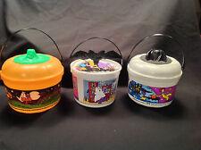 McDonald's Halloween 1999 Pumpkin, Bat Cookie Cutter 2001 Bucket Pail