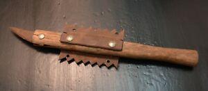 Vtg Handmade TOOL OOAK primitive make do