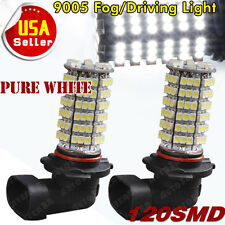 2X HID White HB3 9005 Bulbs 120 SMD 6000K LED Car Driving DRL Fog Lights