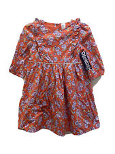 OshKosh Bgosh 5t Orange FLoral 3/4 Sleeve