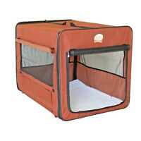 Pet Crate For Small Dog Brown Soft Side Travel Cage Kennel Shelter Puppy GIFT