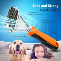 Pet Dog Cat Hair Fur Shedding Trimmer Grooming Dematting Rake Comb Brush Tool US