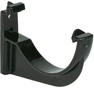 4 Pack -  FloPlast Miniflo RKM1BL Black 76mm Gutter Fascia Bracket Shed Porch