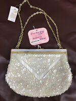 Vintage Women's Ivory Mother of Pearl Beaded Evening Purse Fine Arts Bag Dikran