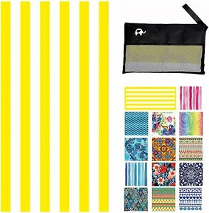 Microfiber Beach/Travel Towel CABANA YELLOW 78x35 inch