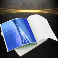 50x Blue Metal foil sheet Gold leaf Gilding For DIY Art Decor/ Wrapper 8cmx8.5cm
