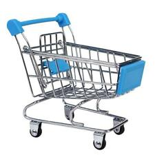 Mini Shopping Cart Supermarket Trolley Kids Child Pretend Play Toy Sky Blue