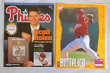 1998 Phillies Vs Tampa Bay Devil Rays Program Scott Rolen + Ricky Bottalico