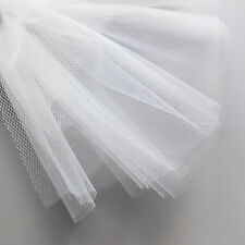 White bridal tulle veil fabric 300cm wide - fine delicate net - by the M