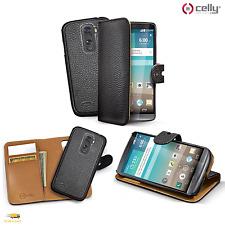 Celly Custodia per LG G3 Cover Ambo Agenda NERO Ecopelle 2 in 1