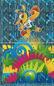 Panini 4 & 5 Emblem Mascot FIFA WM 2014 Brasilien