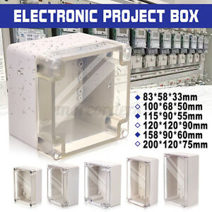 Waterproof ABS Clear Cover Electronic Project Box Enclosure Case Junction