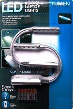 2 PK Detachable USB LED Book/Laptop Light Travel Booklite Reading Night Lamp