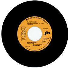"""ELVIS PRESLEY : Burning Love / It's A Matter Of Time - 7"""" ITALY 1972 - jukebox"""