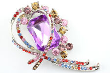 Colorful Elegant Austrian Rhinestone Crystal Elegant Brooch Pin