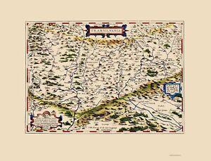 Transylvania Romania - Ortelius 1612 - 23.00 x 30.13