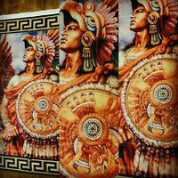 Chicano Mexicano Color Cuauhtemoc Eagle Aztec Flag Banner