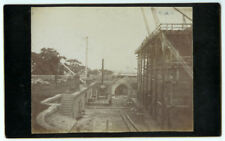 RARE NEW YORK ARCHITECTURAL: Construction in Central Park Newsboy Cabinet Card