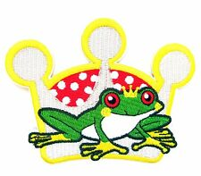 Frog Prince Iron On Patch-  Kids Fairy Tale Princess Embroidered Applique Badge