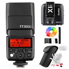 Godox Mini TT350F TTL HSS 2.4G Flash Speedlite for Fuji + Trigger+ 12pcs Filters
