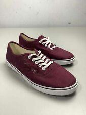 Women's Vans Maroon Canvas Shoes Size 8