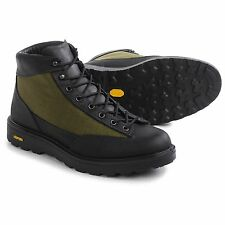 """NEW Danner DL2 Black/Olive Hike or Work Boots, 5"""", Italy Made, Leather & Cordura"""