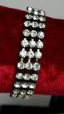 Diamante Glass Bracelet Vintage Costume Jewellery