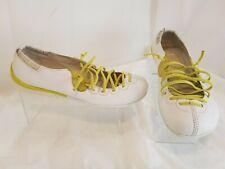 CAMPER  Women's White Leather Ballet Flats Peu Circuit Laces Size EU 37 US 7 M