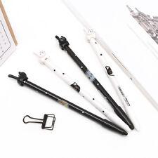 2Pcs HOT Kawaii Fun Black Cat Gel Ink Roller Ball Point Pen Korean Gift School