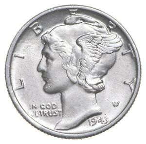 CH Unc 1943 Mercury Liberty Dime - 90% Silver - From an Original Roll! *982