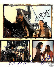 PIRATES OF THE CARIBBEAN CAST AUTOGRAPH SIGNED PP PHOTO POSTER