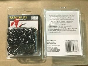 100 Matzuo 513014 Black Barbless Octopus Salmon Steelhead Fish Hooks size 4/0