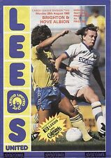 83/84 Leeds United v Brighton & Hove Albion League Division 2
