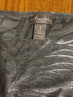 Travelers by Chico Fashion Top-Silver Gray-3/4 Sleeve-Size 1-SHIPS FREE