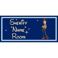 Personnalisé little shérif enfants chambre à coucher porte signe – disney toy story woody db