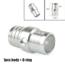 "1PC CNC 1-1/4"" Hose w/ 1/8"" NPT Steam Port Adapter Top Radiator LS Swap Coolant"