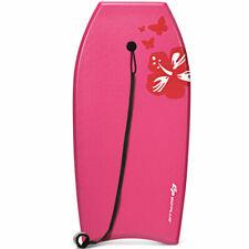 """37"""" Super Lightweight Bodyboard Surfing W/Leash Eps Core Board Ixpe Pink"""