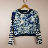 Asilio Top Size 8 Cropped Long Sleeve *Flawed*