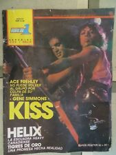 POPULAR 1  ESPECIAL N.54- KISS / HELIX !!!!!!!(SPANISH MAGAZINE)