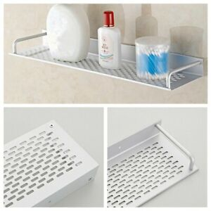 Kitchen Bathroom Space aluminum Shelf Wall-mounted Storage Rack Single Layer